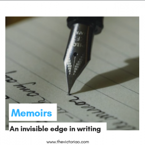 Graphic of memoirs an invisible edge in writing