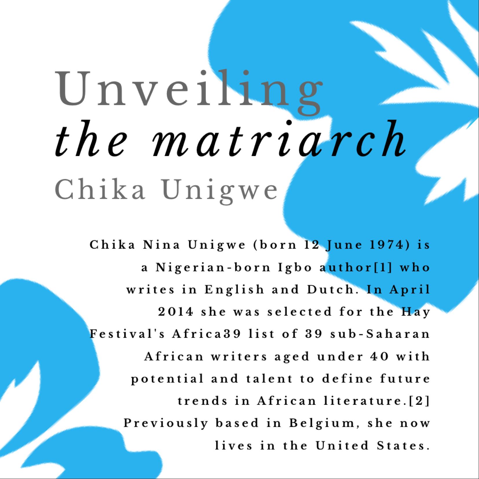 Chika Unigwe on Torie's blog
