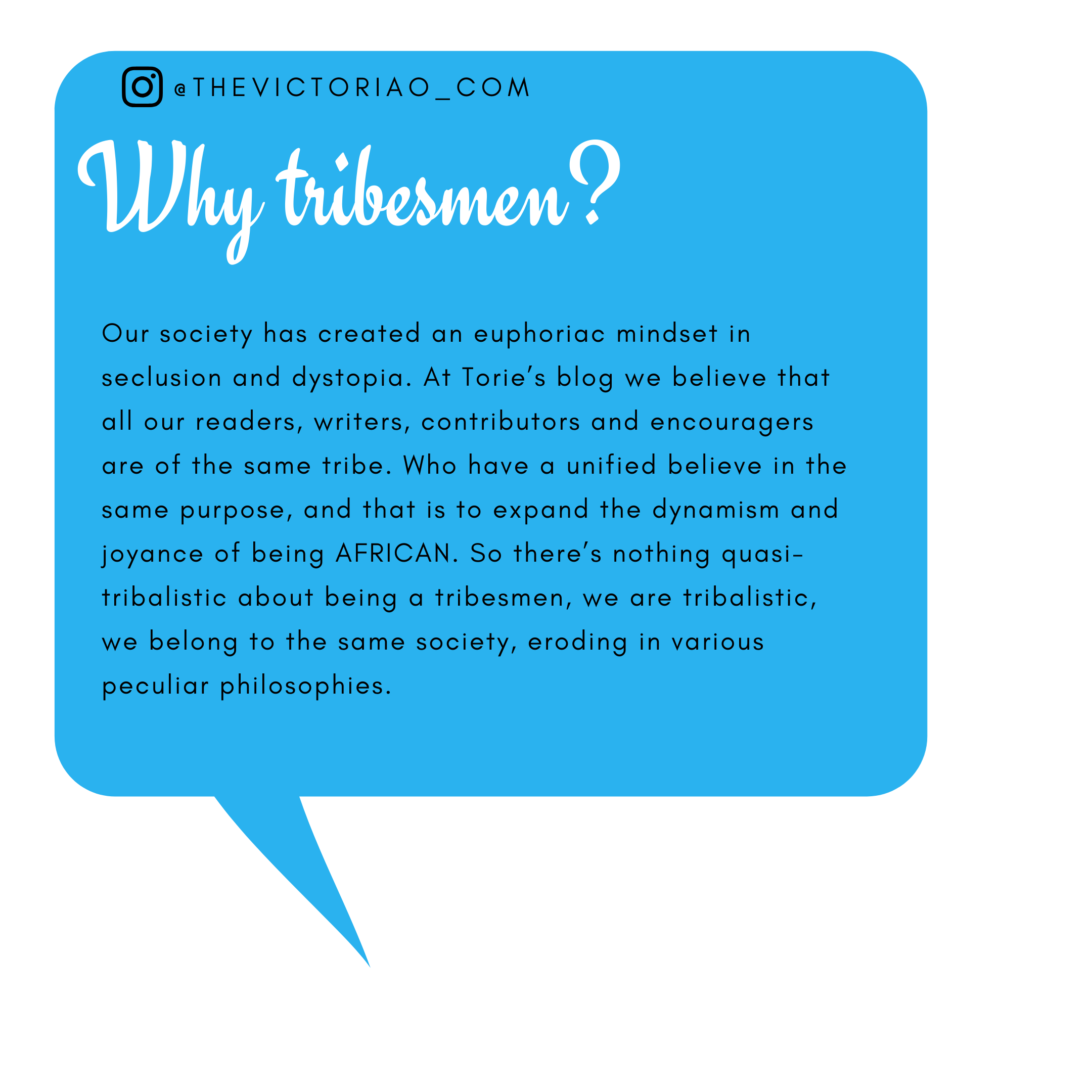 about tribesmen