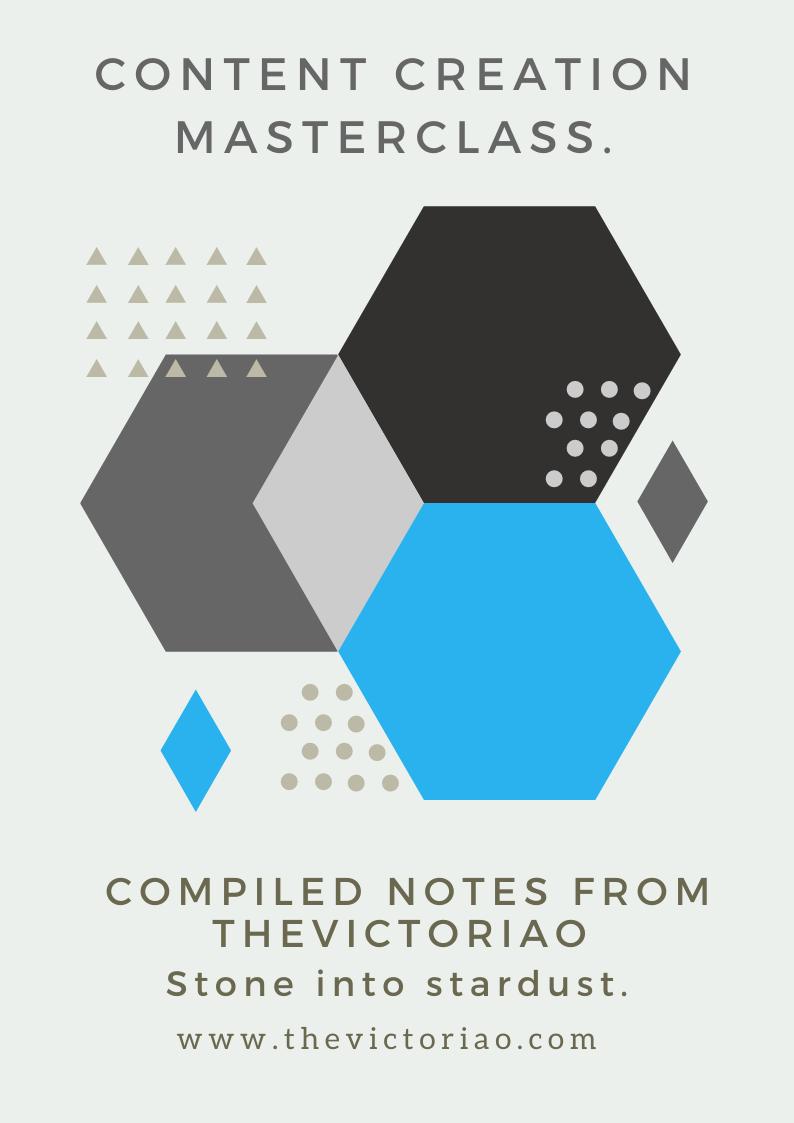 Content Creation Masterclass Ebook