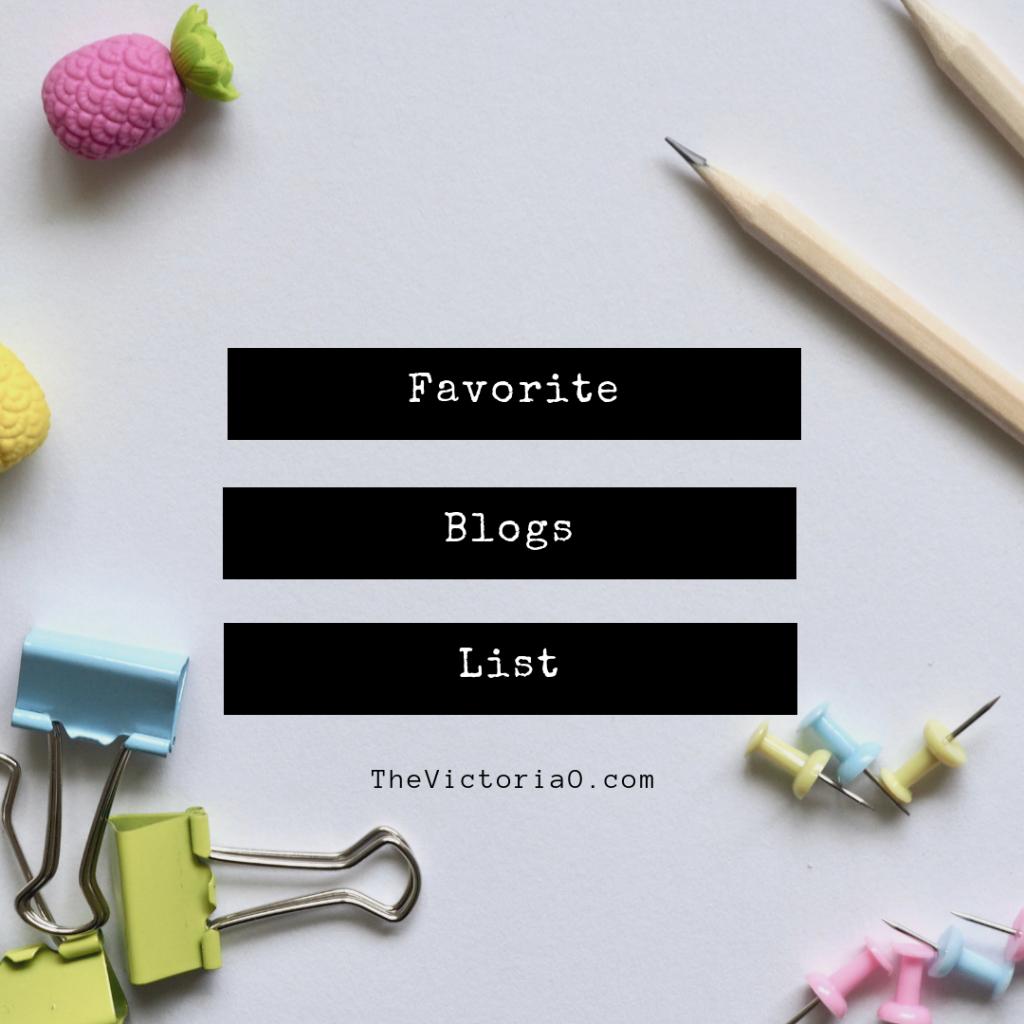 Favorite blogs list on Torie's blog!